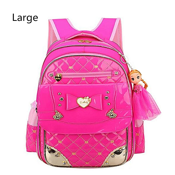 c40a25f07567 Chic Kids Waterproof Backpack for Girls Children Primary Student School  Book Bag Large Rose