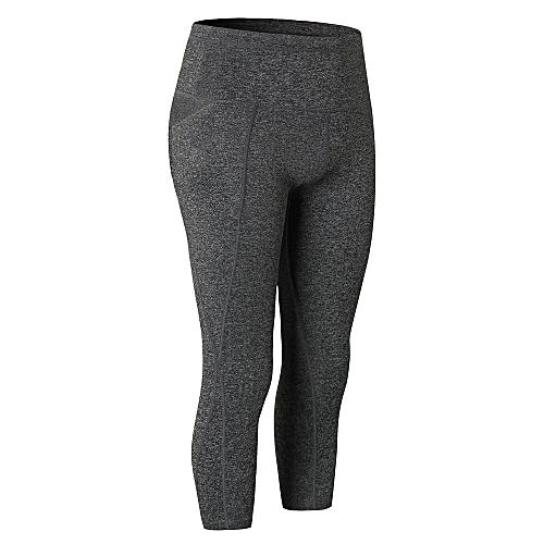 3db424148ea3f Generic Women High Waist Capris Yoga Pants 4 Way Stretch Tummy Control  Workout Running Fitness Yoga Pants Leggings with Pocket
