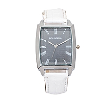 White Shiny PU Leather Unisex Bolingdun Watch..