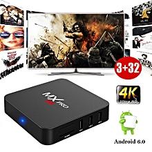 MXQPro Android 6.0 Quad Core Smart TV BOX HDMI 2.0 4K 3D Film Media Player