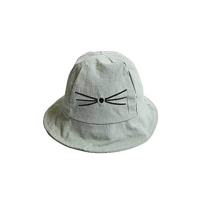 Braveayong Baby Cartoon Sun Hat Summer Cat Caps Baby Girls Fisherman Hat  Kids Boys Cap GN 0b32233778d