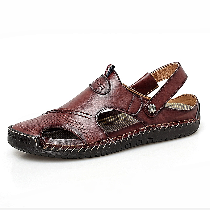 922b2f60f83 Men s Shoes Fashion Casual Sandals Breathable Walking Shoes Light Slippers  Outdoor For Men Brown Size 38