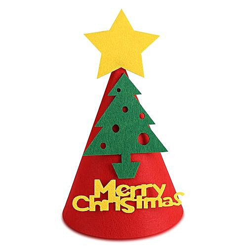 85bd806bd88ad Generic Non-woven Christmas Hat Adult Children Cap Festival Party  Decorative Hat (Red Christmas Tree)