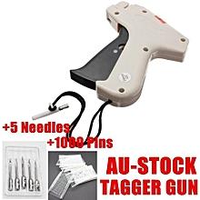 Clothes Garment Price Label Tagging Tag Gun Machine+1000 Barbs+5 Steel Needles