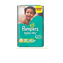 Disposable Diapers Jumbo Pack Size:3 (0 -36 Months) - 72 Diapers