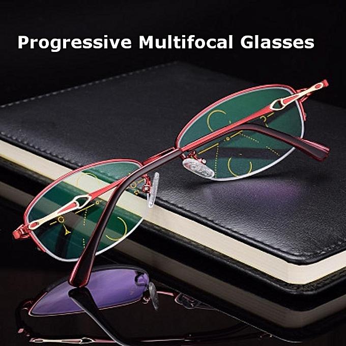aaa205fecc KCASA Progressive Multifocus Reading Glasses Asymptotic Multifocal Metal  Computer Glass 4500 +150