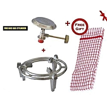 Gas Burner +Grill + FREE Towel