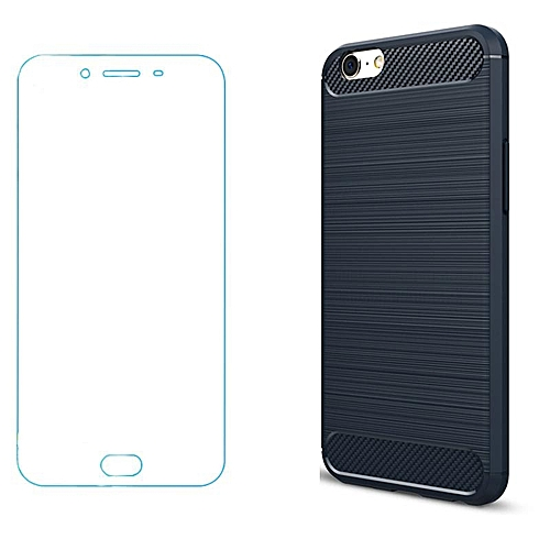 best service 9cc34 af419 For OPPO A39/A57 Ultra Slim Soft Carbon Fiber Case/Fingerprint-proof  Shockproof Protective Cover Shell For OPPO A39/A57