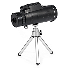 Monocular 40X60 Zoom Optical Lens Telescope + Tripod + Clip For Mobile Phone