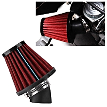 Air Filter 45 Degree Bend Motorcycle Air Intake Filter Cleaner Universal 48mm/1.9inch Red