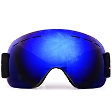 HX01 UV400 Anti-fog Protective Sports Skiing Spherical Glasses With PC Lens - Blue