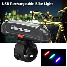 USB Rechargeable LED Bicycle Bike Cycling Rear Tail Light 3 Color Change Lamp
