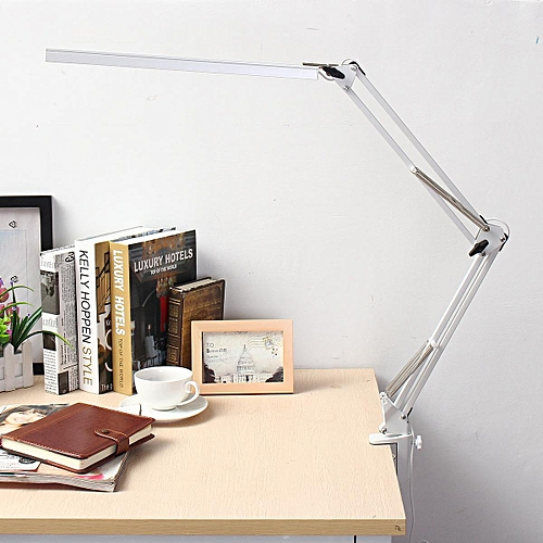 Flexible Dimmable Swing Arm Clamp Mount Lamp Office Studio Home Table Desk Light