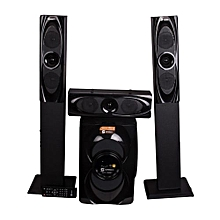 15000W P.M.P.O -1265BT 3.1 CH BLUETOOTH SUBWOOFER WITH MEDIUM RANGE TALL BOY SPEAKERS.