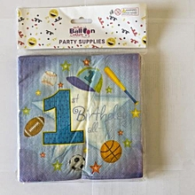 1st birthday serviettes-20 pieces-Blue