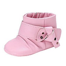 bluerdream-Baby Girl Soft Sole Booties Snow Boots Infant Toddler Newborn Warming Shoes-Pink