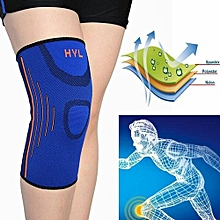 Elastic Leg Knee Support Brace Wrap Protector Knee Pads Kneepads Breathable Blue