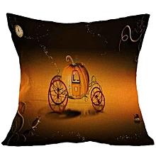 Halloween Square Pillow Cover Cushion Case  Pillowcase Zipper Closure