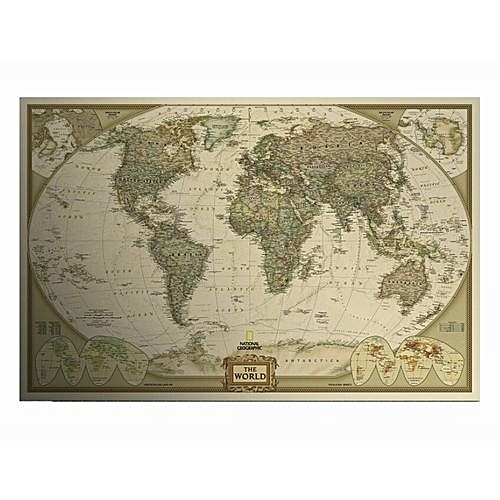 Posters Retro Matte Kraft Paper World Map Posters Antique Poster Large Wall  Sticker Home Decoraction 73x47cm