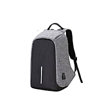 Men's Backpack Anti-theft Laptop Bag Large Capacity Travel Backpacks - Black and Grey