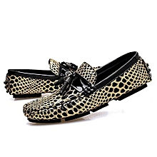 Fashion Men Loafers Moccasins Genuine Leather Shoes Flats Loafers Slip-on Men Driving Shoes Male Large Size