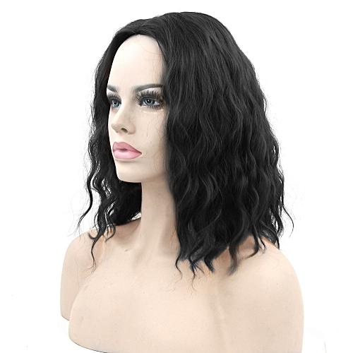c0719fda7 Generic Synthetic Wig Hair Kinky Curly Short Hair Heat Resistant Fiber  Short Wig Women Cosplay Wigs - black