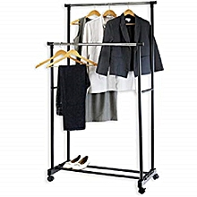 RF7801-Extendable Garment Rack-Stainless Steel-Silver