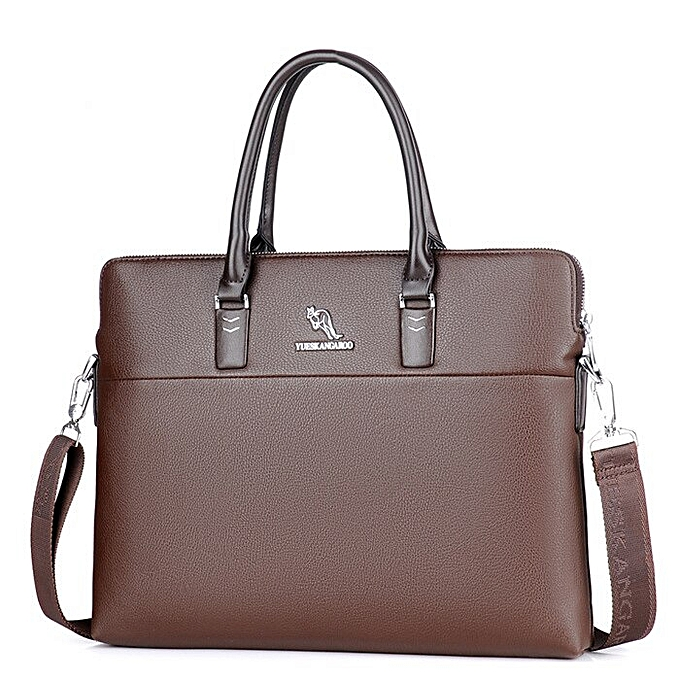 best service 7022e 9cf82 2018 Luxury Brand Briefcase Leather Handbag Men Bags Office Men Messenger  Bags Man Travel Crossbody Bags For Men's Shoulder Bag(Brown)