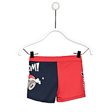 Boy Red and Navy Blue Swimsuit