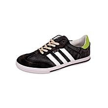 Black Striped Sneakers
