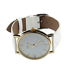 Geneva Women's  Wrist Watch  Unisex Casual  Checkers Faux Leather Quartz Analog Wrist Watch WH@White