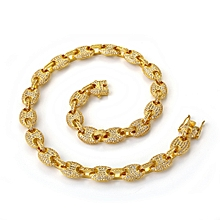 718a0d900e Platinum 46 cm (18 inch) 12 mm-Real Gold Plated Hip Hop ornaments