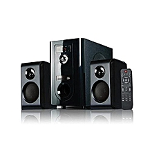 SHT1094BT - 2.1 Channel Sub-woofer - 6000W PMPO - BLUETOOTH-USB-FM-MMC - (Black),