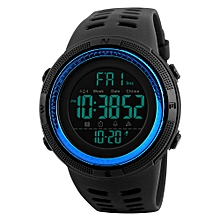 SKMEI Men Sports Watches Countdown Double Time Watch Alarm Chronograph Digital Wristwatches 50M Waterproof Relogio Masculino