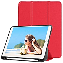 Newest IPad 9.7 Inch 2018 Case With Pencil Holder - Lightweight Soft TPU Back Cover And Trifold Stand With Auto Sleep/Wake Mll-S