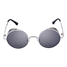 Retro Carved Round Sunglasses