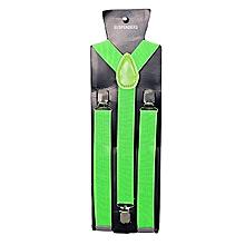 The Company Green Y- Shaped Adjustable Suspenders