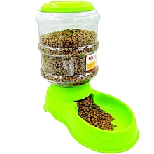 3.5L Automatic Pet Feeder Drinking Fountain For Cats Dogs -Green