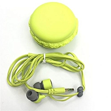 Candy Color In-ear Earphones For Samsung Xiaomi Cute Girls For MP3 Player MP4 Mobile Phone Birthday Gift Green