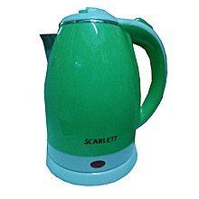 Kettle (Electric) - 2L - Cordless - Green & White