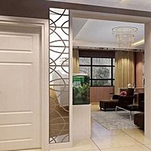 14Pcs 3D Mirror Rectangle Vinyl Removable Wall Sticker Decal Home Decor Art SL
