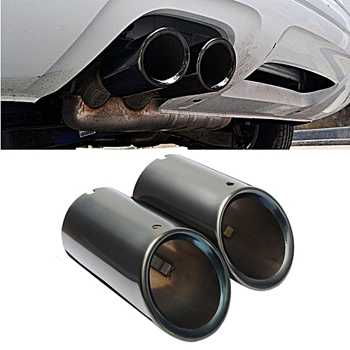 Generic 2pcs New Black S Line Exhaust Muffler Tail Pipe Tip For Audi