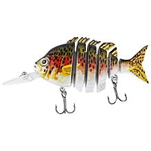 10CM Long Lip Weever Shape Crankbait Hook Lure Fishing Bait - Colormix