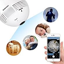 360 Degree Panoramic 1080P Hidden Camera Light Bulb Wifi FishEye CCTV Security
