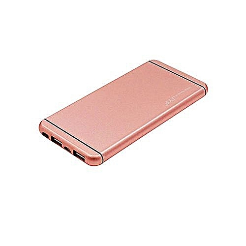 Power Bank -  20,000 mAh - Popular Design With Polymer  Battery - Rose Gold