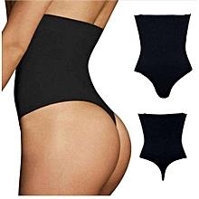 e97b36e6ffd8 High Waist Slim Thong Tummy Control Corset Shapewear - Black