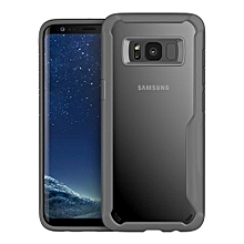 Galaxy S8 Silicon Transparent Case, PC And TPU Anti-knock Phone Back Cover For Samsung Galaxy S8-gray.
