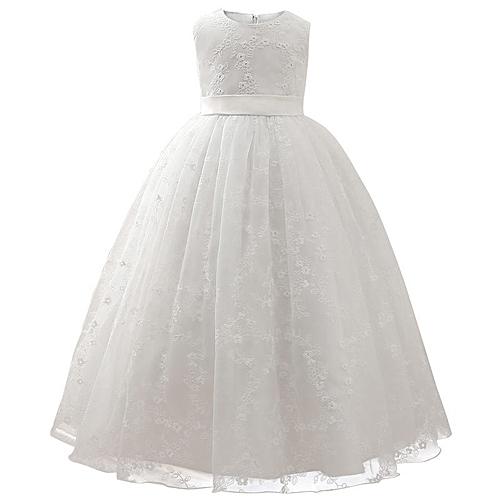 4128da1b2f384 Girl Dress Kids Ruffles embroidery Lace Party Wedding Dancing Dresses  Fashion Children Dress Skirt Girls Princess Dress