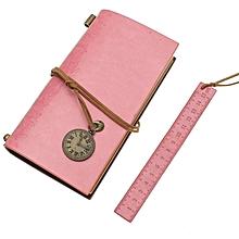 Time leather loose-leaf notebook kraft paper notebook portable retro car line