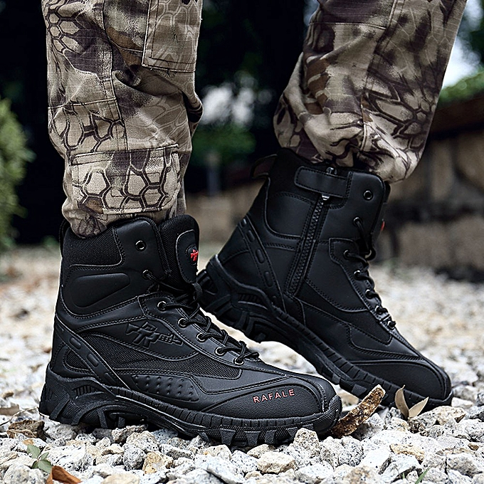 2b3171d0f5 Men Military Boot Tactical Desert Combat Ankle Boat Work Shoes Combat Boots
